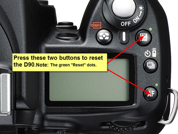 NIKON D90 TWO BUTTON RESET