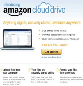 AMAZON.COM CLOUD DRIVE 5GB FREE CLOUD STORAGE