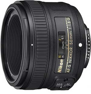 Nikon 50mm f/1.8G AF-S FX Lens for Nikon Digital SLR Cameras