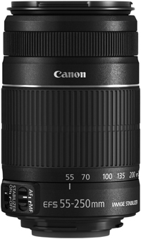 CANON ANNOUNCES the EF-S 55-250mm f/4-5.6 IS II TELEPHOTO ZOOM LENS