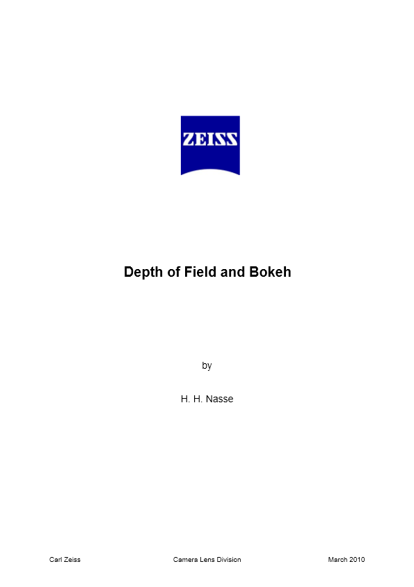 Depth of Field and Bokeh