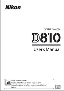 Nikon D810 Manual | Nikon D810 Owners Manual