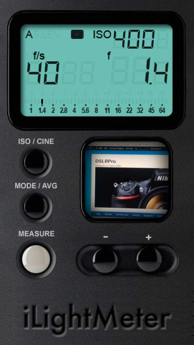 ilightmeter iPhone Light Meter Apps