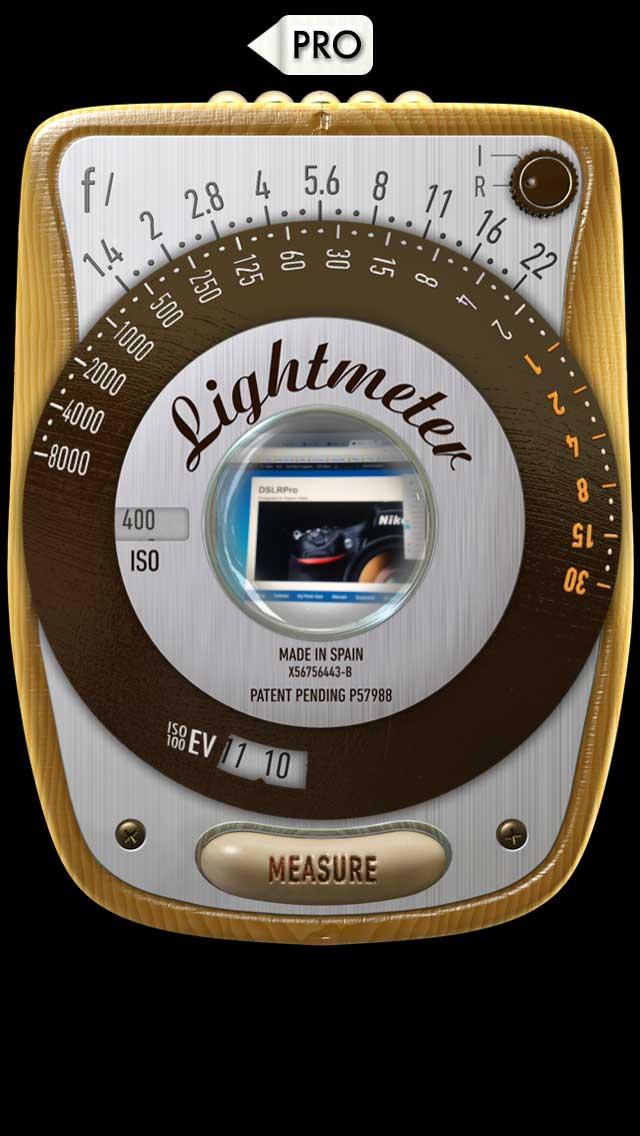 myLightMeter PRO Classic Mode IPhone Light Meter App