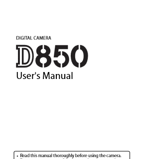 Nikon D850 Instruction Manual English
