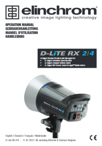 Elinchrom D-Lite RX 4 Manual