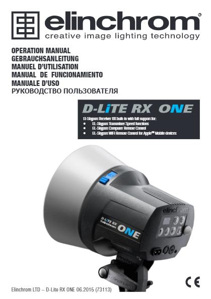 ELinchrom D-Lite RX ONE Manual