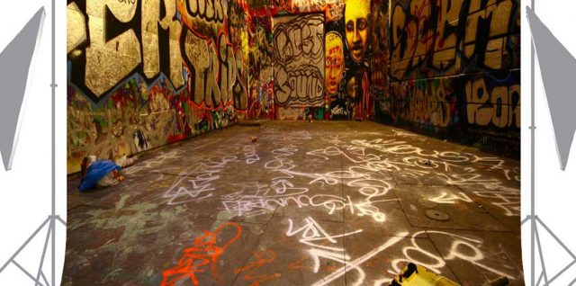 Ouyida Graffiti Space Photography Background
